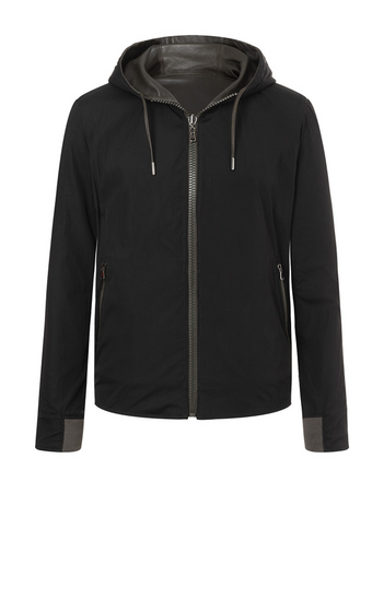 MATS: Reversible hoodie in soft lamb nappa