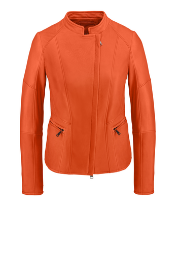 CORINNA: Biker jacket crafted in lamb nappa