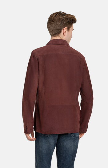 HENNING: light shirt crafted from goatskin su