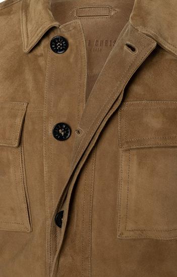 ANTON: Leichtes Fieldjacket aus Ziegenvelours