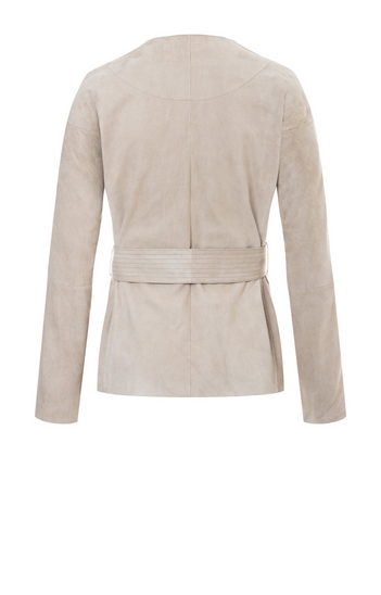 TAMMI: Light jacket crafted in goatskin suede