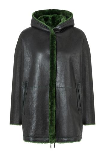 Namika: Casual lambskin hooded jacket