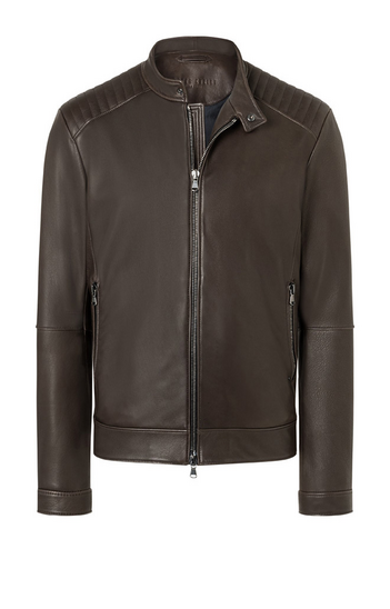 THORE: Biker jacket with quilted details