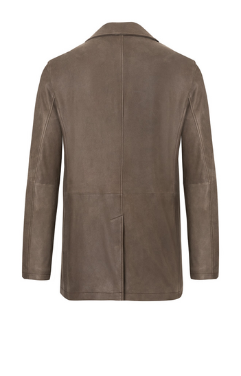 DIEGO: Jacket in napped goatskin suede