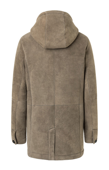VINCENT: Sporty parka crafted in lambskin