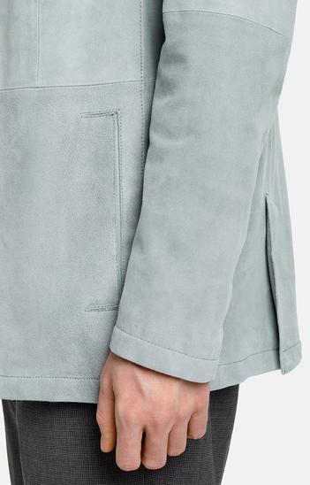 FERDINAND: leather blazer with linen lining