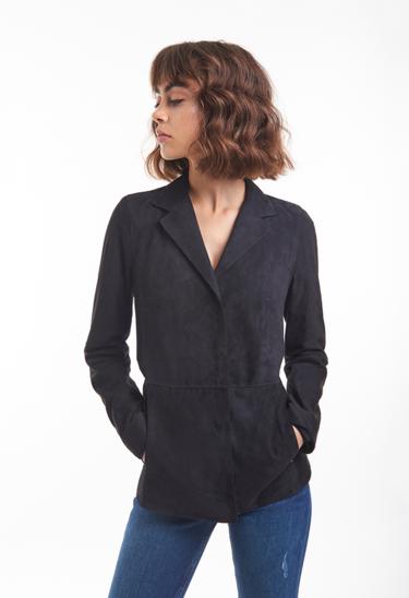 MARIE: Klassischer Blazer aus Ziegenvelours