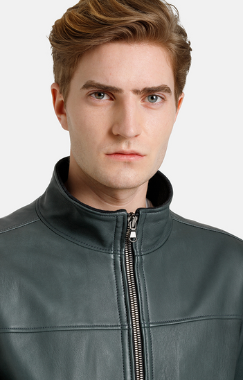 BENJAMIN: sporty blouson with knitted details