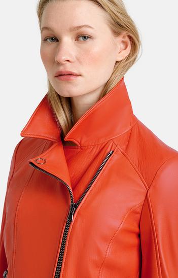 CARINA: biker jacket crafted in soft nappa