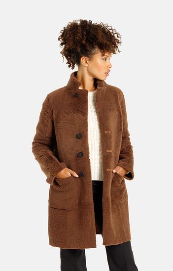 Dunja CW: Reversible coat in a blazer style