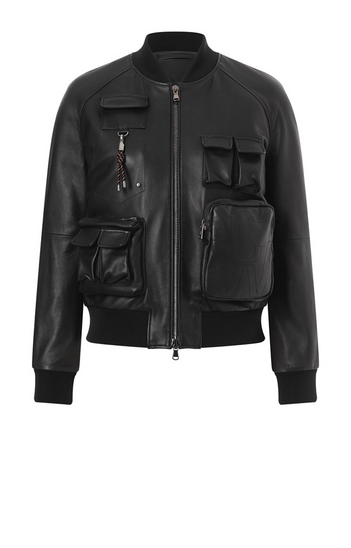 BIRDIE: Multi-pocketing blouson in lamb nappa