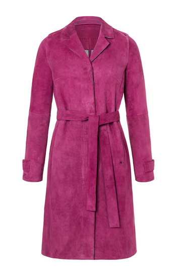 Tess - Klassischer Trenchcoat in softem Velor