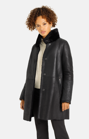 Lola K: Reversible coat crafted in lambskin