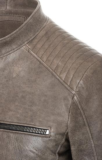 ELIAS: Vintage look, lamb nappa biker jacket