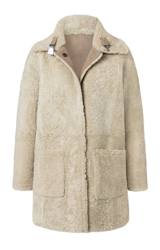 Serena: Reversible lambskin coat