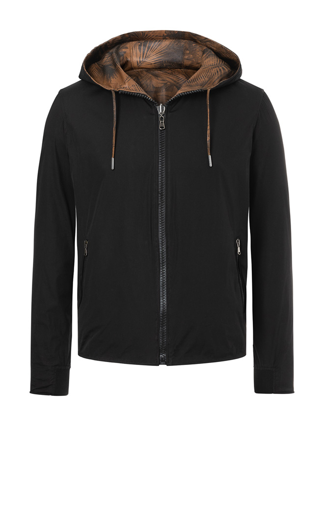 MATS: Reversible hoodie crafted in lamb nappa