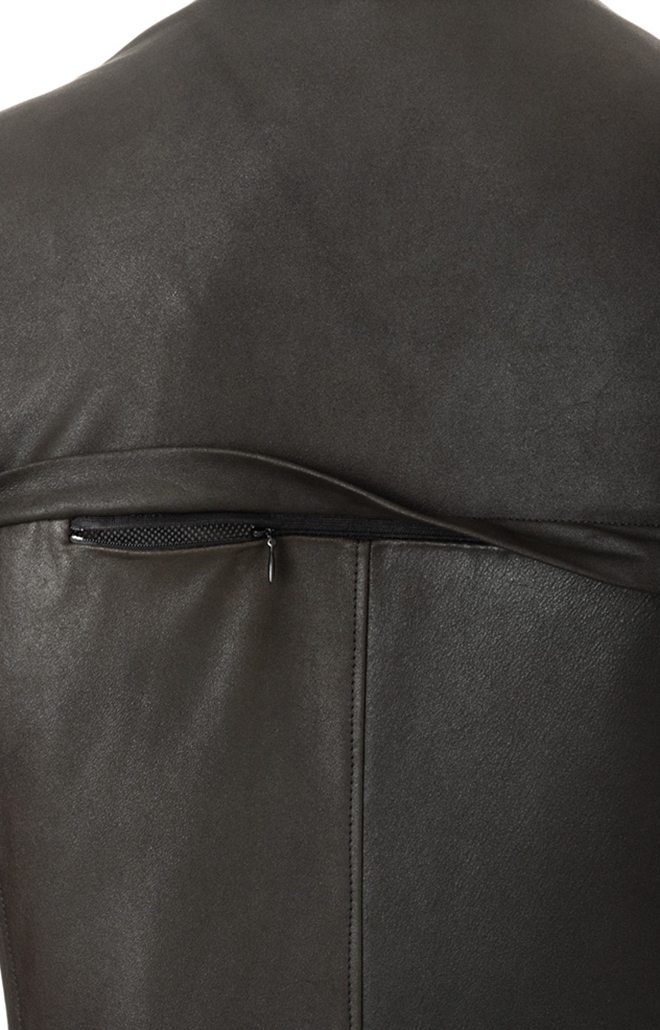 CODY: Blouson aus nappiertem Ziegenvelours