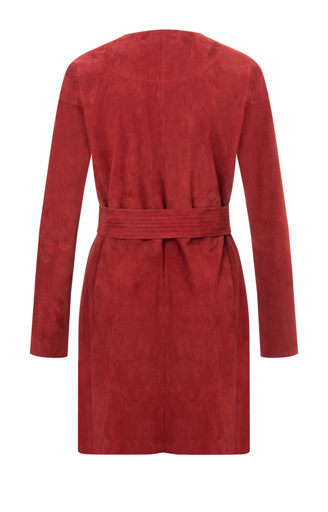 TUTTI: Light short coat in goatskin suede