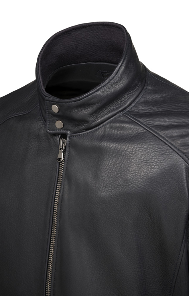DANY: Classic blouson crafted in lamb nappa