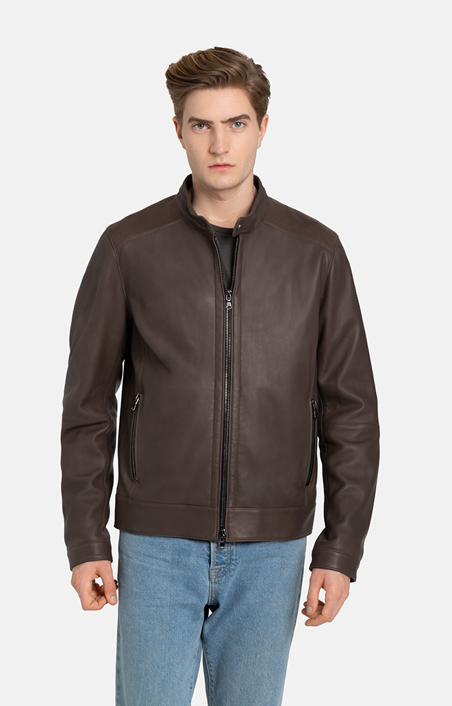 TOTO: grained nappa jacket for purists