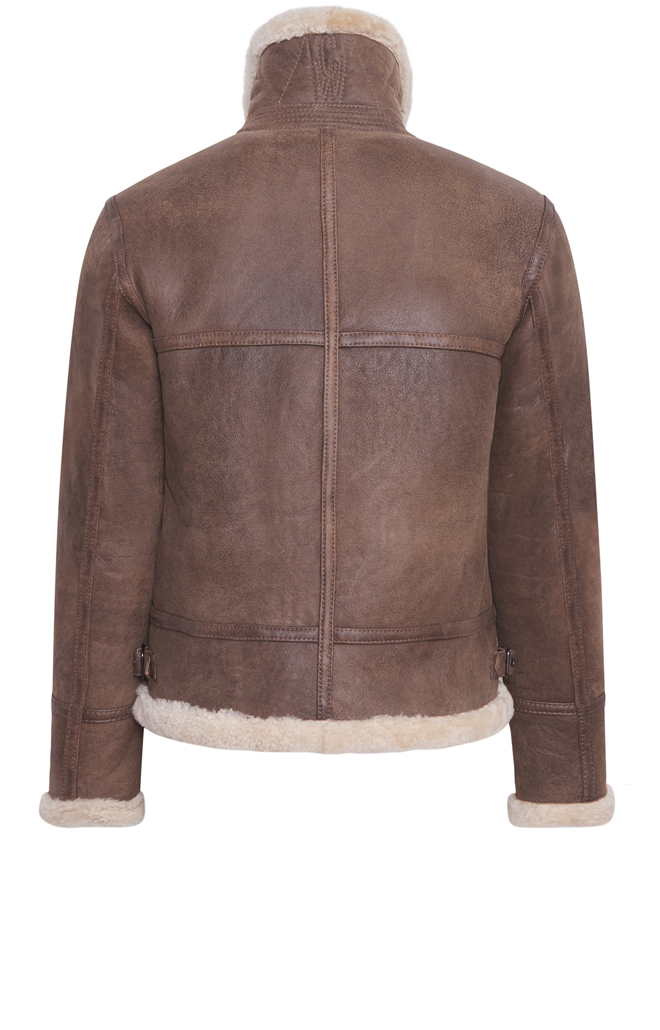 ADAM: Pilot jacket crafted in lambskin