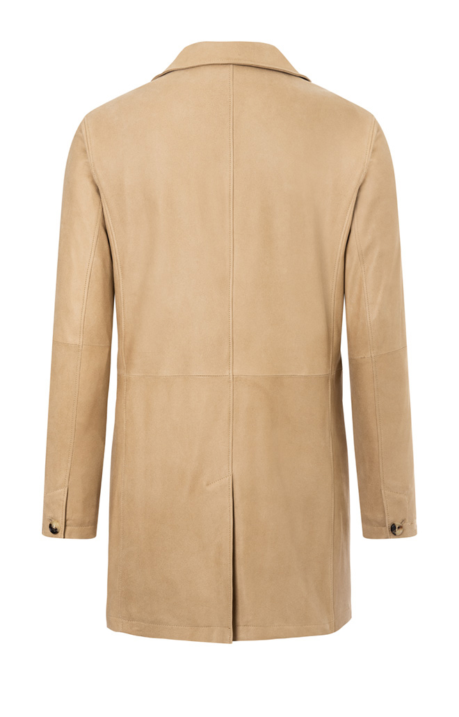 ClintCLINT: Coat crafted in napped goatskin s