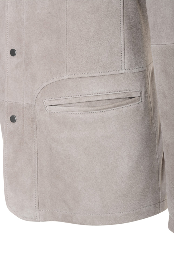 ERIC: Finest goatskin suede blazer jacket