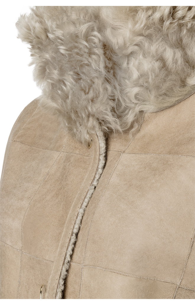 Coco:  Reversible Jacke in Material-Mix