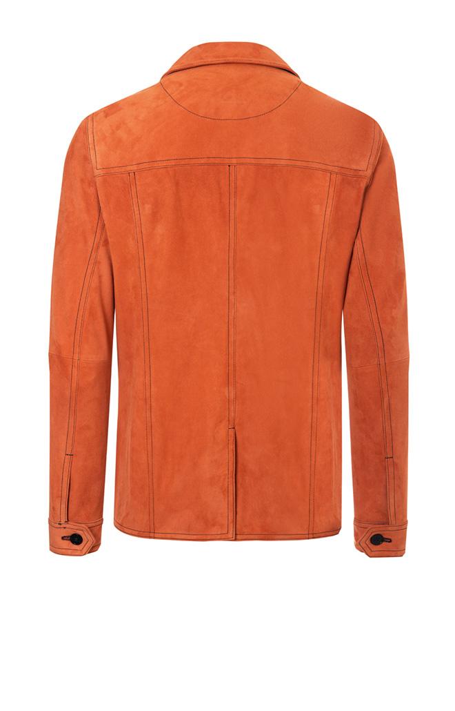 JOST: Worker jacket in soft goatskin suede