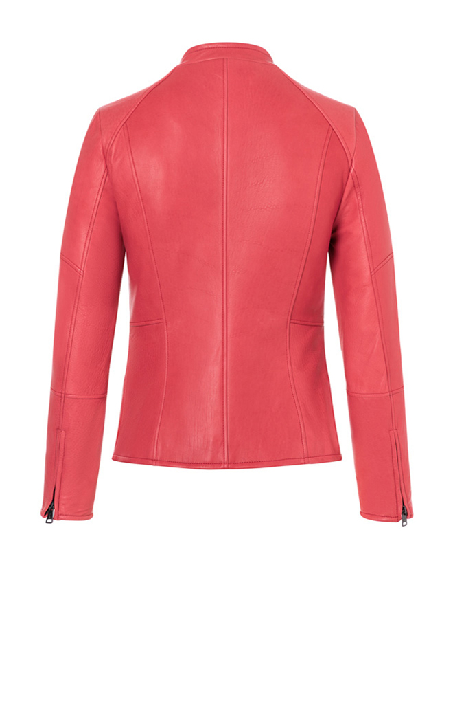 CORINNA: Biker jacket crafted in lamb nappa
