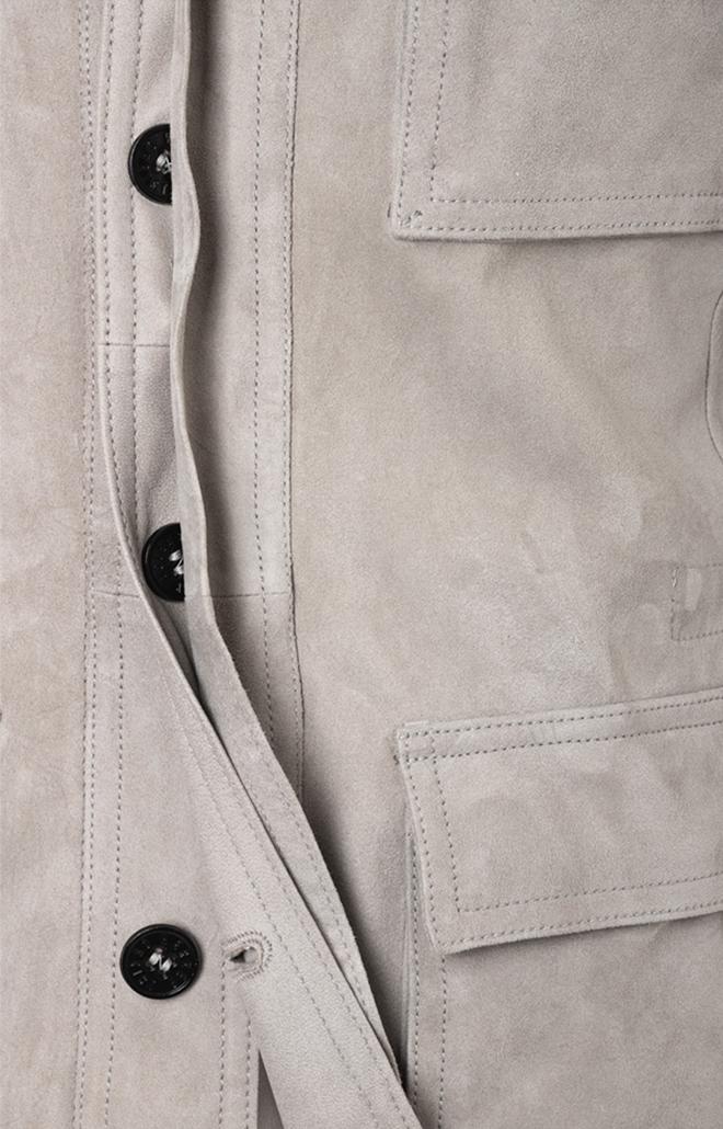 ANTON: Light field jacket in goatskin suede