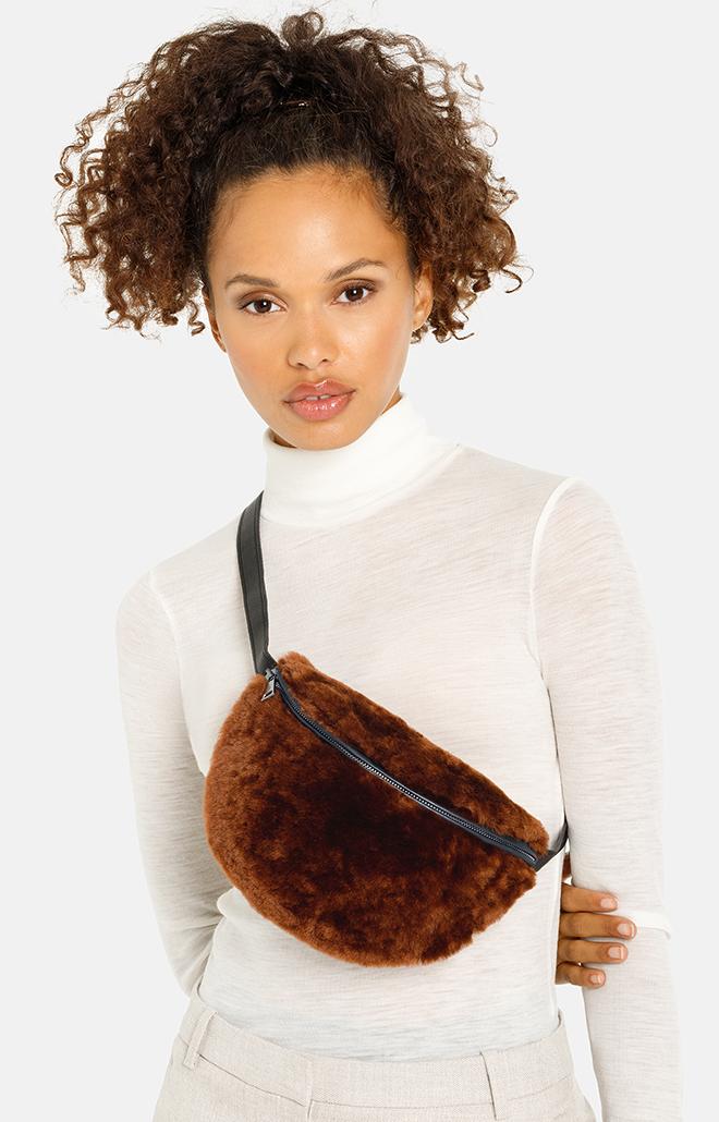FURtastic waistbag: shearling waistbag