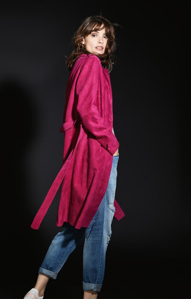 Tess: Leichter Mantel aus Ziegenvelours