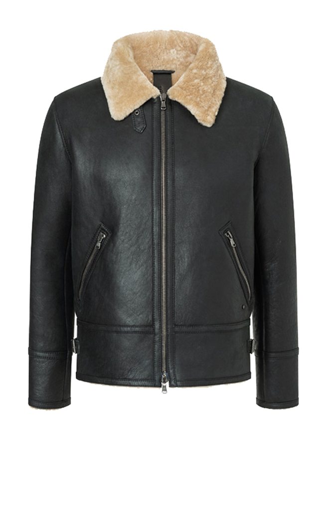 ALIM: PILOT JACKET CRAFTED IN LAMBSKIN