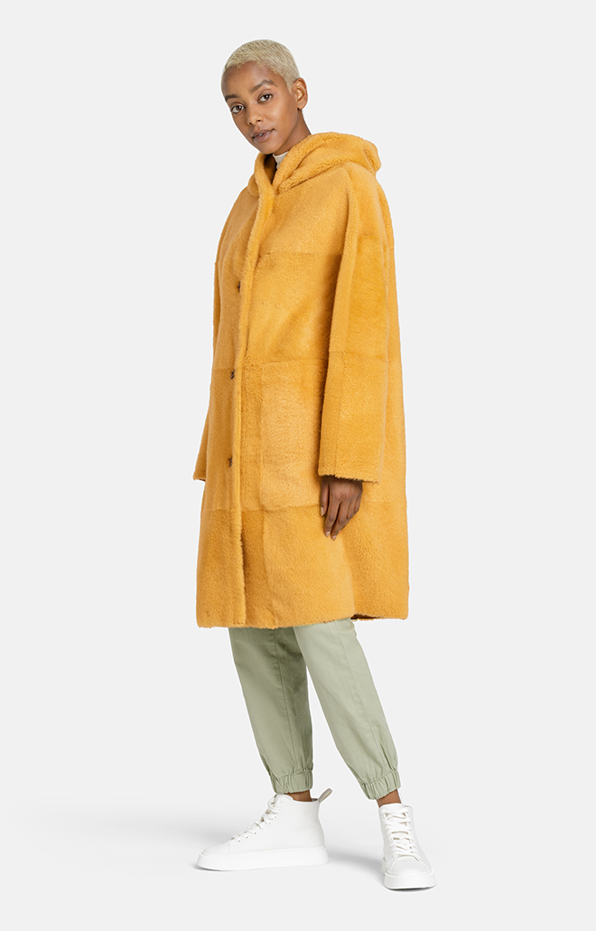 LARISSA: Coat with attached hood